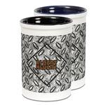 Diamond Plate Ceramic Pencil Holder - Large