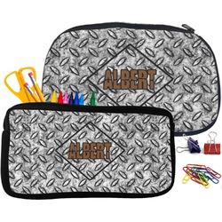 Diamond Plate Pencil / School Supplies Bag (Personalized)