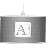 Diamond Plate Drum Pendant Lamp (Personalized)