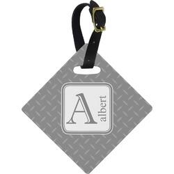 Diamond Plate Diamond Luggage Tag (Personalized)