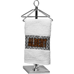 Diamond Plate Cotton Finger Tip Towel (Personalized)