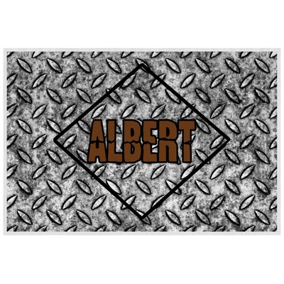 Diamond Plate Laminated Placemat w/ Name or Text
