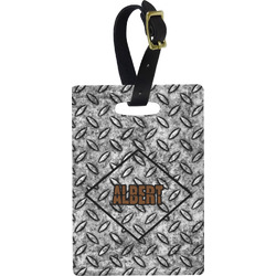 Diamond Plate Rectangular Luggage Tag (Personalized)