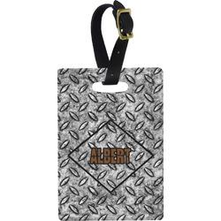 Diamond Plate Rectangular Luggage Tag (Personalized)