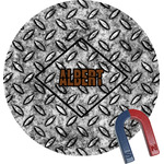 Diamond Plate Round Magnet (Personalized)