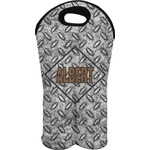 Diamond Plate Wine Tote Bag (2 Bottles) (Personalized)