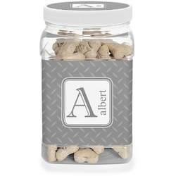 Diamond Plate Pet Treat Jar (Personalized)