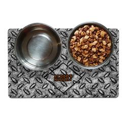 Diamond Plate Pet Bowl Mat (Personalized)