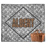 Diamond Plate Outdoor Picnic Blanket (Personalized)