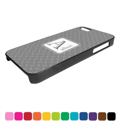 Diamond Plate Plastic iPhone 5/5S Phone Case (Personalized)