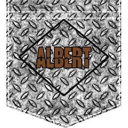 Diamond Plate Iron On Faux Pocket (Personalized)