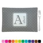 Diamond Plate Glass Rectangular Appetizer / Dessert Plate - Single or Set (Personalized)