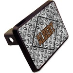 "Diamond Plate Rectangular Trailer Hitch Cover - 2"" (Personalized)"