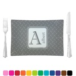 Diamond Plate Glass Rectangular Lunch / Dinner Plate - Single or Set (Personalized)