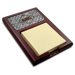 Diamond Plate Red Mahogany Sticky Note Holder (Personalized)