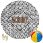 Diamond Plate Round Beach Towel (Personalized)