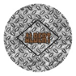 Diamond Plate Round Decal (Personalized)