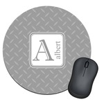 Diamond Plate Round Mouse Pad (Personalized)