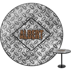 Diamond Plate Round Table (Personalized)