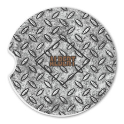 Diamond Plate Sandstone Car Coasters (Personalized)