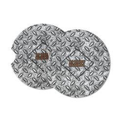 Diamond Plate Sandstone Car Coasters (Personalized)