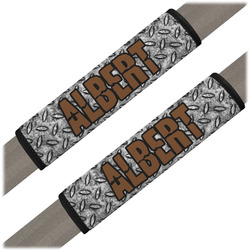 Diamond Plate Seat Belt Covers (Set of 2) (Personalized)