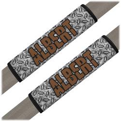 Diamond Plate Seat Belt Covers (Set of 2) (Personalized)