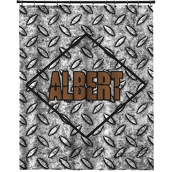 """Diamond Plate Extra Long Shower Curtain - 70""""x84"""" (Personalized)"""