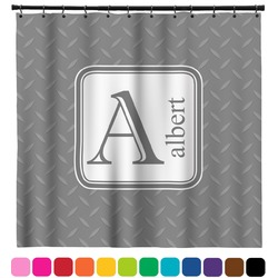 Diamond Plate Shower Curtain (Personalized)