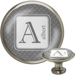 Diamond Plate Cabinet Knob (Silver) (Personalized)