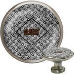 Diamond Plate Cabinet Knob (Silver) (Personalized)