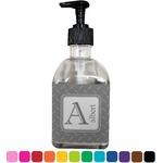 Diamond Plate Soap/Lotion Dispenser (Glass) (Personalized)