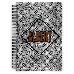 Diamond Plate Spiral Bound Notebook (Personalized)