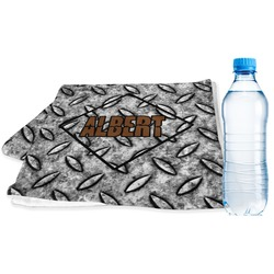 Diamond Plate Sports Towel (Personalized)