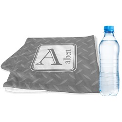 Diamond Plate Sports Towel (Personalized)