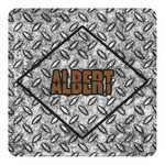 Diamond Plate Square Decal (Personalized)