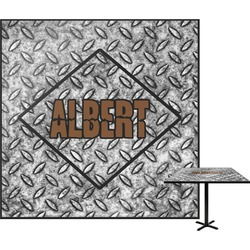 """Diamond Plate Square Table Top - 24"""" (Personalized)"""