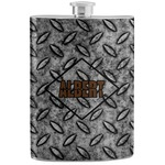 Diamond Plate Stainless Steel Flask (Personalized)