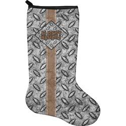 Diamond Plate Holiday Stocking - Neoprene (Personalized)