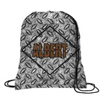 Diamond Plate Drawstring Backpack (Personalized)