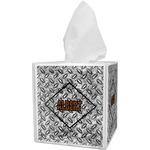 Diamond Plate Tissue Box Cover (Personalized)