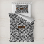 Diamond Plate Toddler Bedding w/ Name or Text