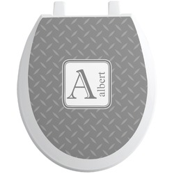 Diamond Plate Toilet Seat Decal (Personalized)