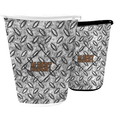 Diamond Plate Waste Basket (Personalized)
