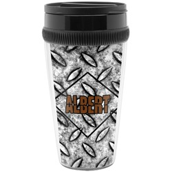 Diamond Plate Travel Mug (Personalized)