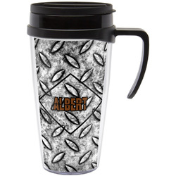 Diamond Plate Travel Mug with Handle (Personalized)