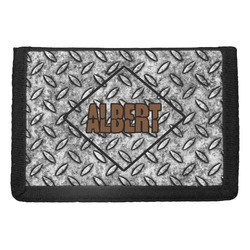 Diamond Plate Trifold Wallet (Personalized)