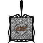 Diamond Plate Trivet with Handle (Personalized)