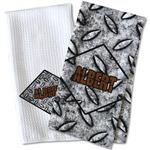 Diamond Plate Waffle Weave Kitchen Towel (Personalized)