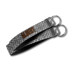 Diamond Plate Wristlet Webbing Keychain Fob (Personalized)
